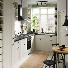 Create a cosy cottage kitchen feeling in the city. Explore this small kitchenette and its country touches, including IKEA HITTARP white panel door fronts. Ikea Small Kitchen, Kitchen Storage, Kitchen Decor, Kitchen Organization, Organization Ideas, Kitchen Rack, Kitchen Pantry, Diy Kitchen, Storage Ideas