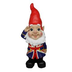 Giant Union Jack Garden Gnome from Asda.