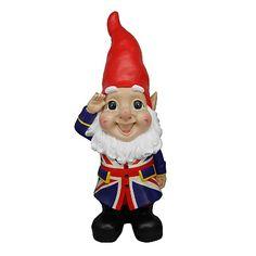 Giant Union Jack Garden Gnome from Asda.