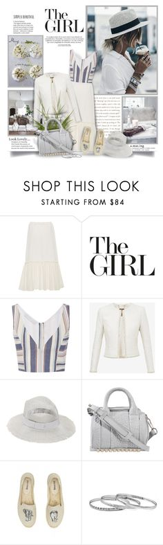 """""""The Girl"""" by thewondersoffashion ❤ liked on Polyvore featuring Rosetta Getty, Christine Alcalay, Ted Baker, Eugenia Kim, Alexander Wang and Soludos"""