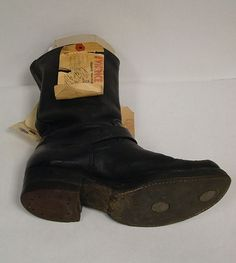 Boot belonging to Perry Smith. A bloody print from the boot had been left beside the body of Herb Clutter in the basement of the Clutter house.