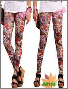 Hot Spring/Autumn Fashion Clover Print Skinny Leggings Women Pants LML0042