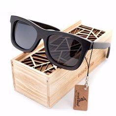 e4a1291c2b Preppy Wayfarer Bamboo Wood Sunglasses  3 Variants . Bobo Bird Premium  Natural Frames Original Wooden Casual Polarized Lens Sunglasses Men And  Women ...