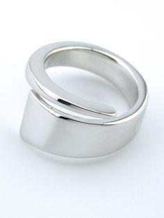 Hans Hansen silver tapered wrap ring