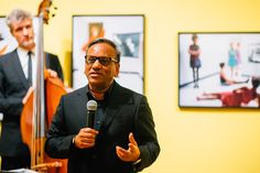 Wolford CEO Ashish Sensarma speaking at the event. Helmut Newton, Wolford, Art Pieces, Fictional Characters, Image, Artworks, Fantasy Characters