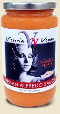 Victoria Vegan - Roasted Red Pepper Alfredo Sauce