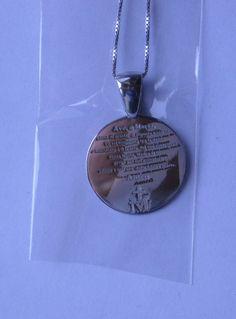 Silver 925. Ave Maria. 20 mm. Contact us on info@tiemmecreazioni.it