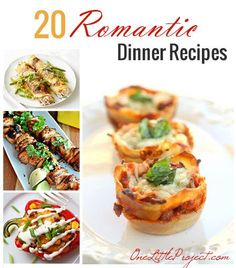 20 Romantic Dinner Recipes that are perfect for you and your sweetheart | onelittleproject.com