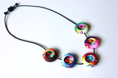 Five Nidos Polymer Clay Necklace. by SilviaOrtizDeLaTorre on Etsy