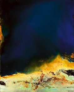 Zao Wou-Ki was born in Beijing, and started out studying calligraphy, then chinese and western art, and lived in Paris most of his life. He was much inspired by Paul Klee . Abstract Expressionism, Abstract Art, Abstract Paintings, Guache, Western Art, Chinese Art, Oeuvre D'art, Painting Inspiration, Impressionism