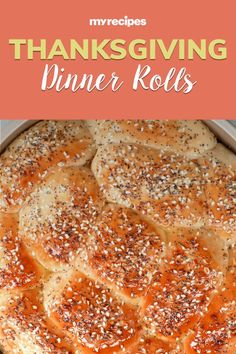 Dress up store-bought dinner rolls into something special with one of the following flavor blends: Everything Bagel, Greek, or Old Bay. This smart trick for an easy and awesome upgrade to the average bread basket comes from our friends at Southern Living.#thanksgiving #thankgivingrecipes #thanksgivingturkey #thanksgivingmains #turkeyrecipes
