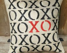 XOXO Valentine Pillow Wedding Engagement Love Home Decor - We Do Custom Pillows