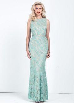 Chic Lace   Satin Jewel Neckline Formal Dresses Vestiti Da Ballo 2cffce38253