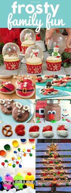 Christmas DIY: Frosty Family Fun - Frosty Family Fun - Holiday and Christmas treats crafts and DIY ideas the whole family will love! Christmas Snacks, Christmas Cooking, Noel Christmas, Christmas Activities, Christmas Goodies, Christmas Candy, Holiday Treats, Winter Christmas, Holiday Fun