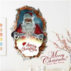 3D Wandtattoo Weihnachten Weihnachtsmann