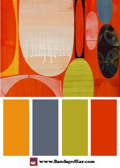 Orange Color Palette: Acapulco One, Art Print by Rex Ray