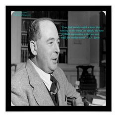 #Rare #CSLewis #Poster #Print w/#famous #Quote by @QuoteGifts #zazzle #gift #art #wallart