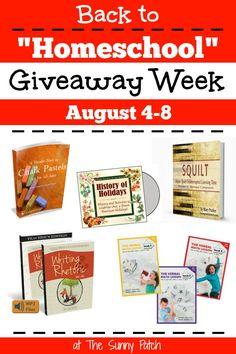 "Back to ""Homeschool"" Giveaway Week is coming!"