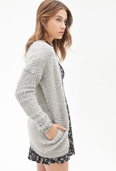 Shaggy Open-Front Cardigan |