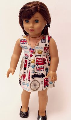 American Girl doll clothes Visiting London by LollyDollyDesigns