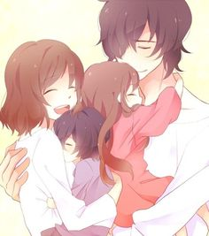 If Yuka and Kizami had a family *-* Someone throw me off a cliff now! Forgot what this is actually from :P