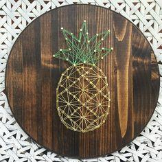 Pineapple string art DIY idea