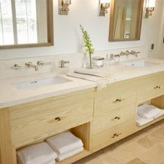 vanity-cabinet-with-limestone-countertops-and-undermount-sinks-also-wall-mount-faucets-with-limestone-bathroom-countertops-and-wall-mirror-plus-wall-sconces-with-limestone-floors