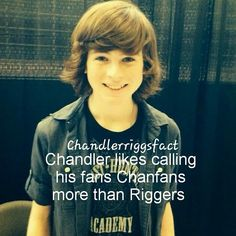 Chandler Riggs Fact!