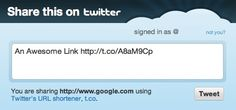 facebook and twitter share code - without needing the ugly widget