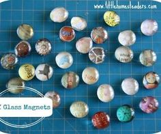 diy glass magnets, christmas decorations, crafts, decoupage, seasonal holiday decor, The finished product