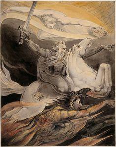 Death on a Pale Horse, Painting by William Blake Reproduction William Blake Paintings, William Blake Art, Pierre Auguste Renoir, Camille Pissarro, Behold A Pale Horse, Horsemen Of The Apocalypse, Lady Godiva, Gravure, Illustrators