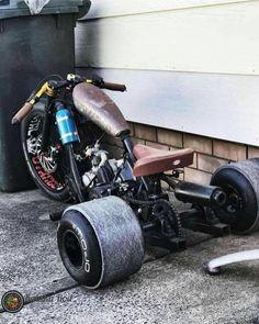 how to build a reverse trike plans Bike Drift, Drift Trike Frame, Custom Trikes, Custom Cars, Custom Rat Rods, Custom Sportster, Custom Bobber, Dh Velo, Velo Shop