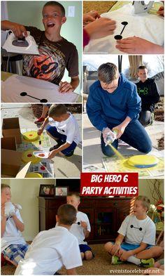 Big Hero 6 Birthday Party Crafts & Games - eventstocelebrate.net #BigHero6Release #ad