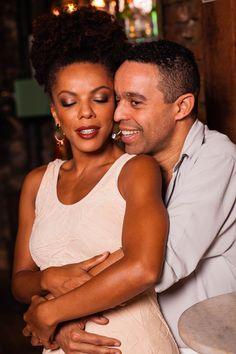 Patricia Costa e Édio Nunes no musical Quando a gente ama