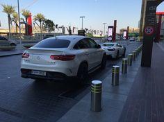 Carpark at Dubai Mall #car #mercedesbenz #ferrari #gle #63 #amg #italia #white #dubai