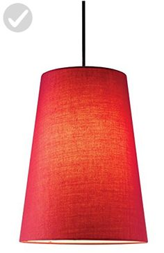 Adesso 4000-08 Harvest Cone Pendant, Red - Unique lighting lamps (*Amazon Partner-Link)