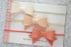 Felt Bow Headband Baby Bow Headband Baby by MyMondaysChild on Etsy