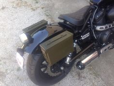 I did the ammo can saddle bags.