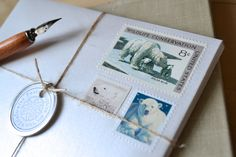 Polar Bear Postage Stationery Arctic Cards by EdelweissPost, $25.00