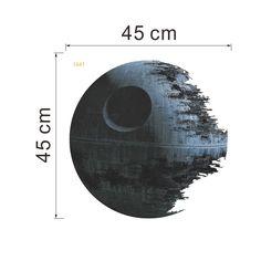 45cm Removable Death Star Wars Wand Aufkleber Kunst Vinylabziehbild Kind Schlafzimmer Ausgangswand Dekoration