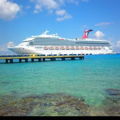 Carnival cruise ship docking in Cozumel.