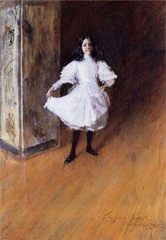 William Merritt Chase - Portrait of the Artist's Daughter--Dorothy (1879)