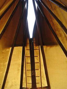 tipi - inside by tiehmei, via Flickr