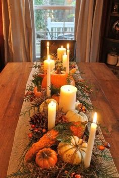 Gather all your pumpkins and gourds for one last hooray this Thanksgiving. I hav… Gather all your pumpkins and gourds for one last hooray this Thanksgiving. I have some beautiful Thanksgiving table ideas for you my friends… Autumn Decorating, Decorating Ideas, European Home Decor, Deco Floral, Floral Foam, Decoration Table, Centerpiece Ideas, Fall Table Centerpieces, Elegant Centerpieces
