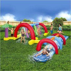 Inflatable Kiddie Water Slide and Adventure Water Park Pool