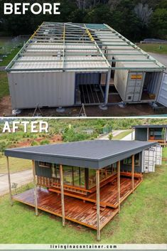 Shipping Container Home Designs, Container House Design, Tiny House Design, Shipping Containers, Container Cabin, Cargo Container, Building A Container Home, Container Buildings, Tiny House Living