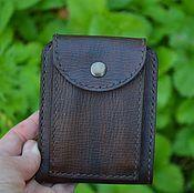 880cbfa6ce0a Мужской кошелек №2 – купить или заказать в интернет-магазине на Ярмарке  Мастеров | Компактный мужской кошелек из натуральной кожи…