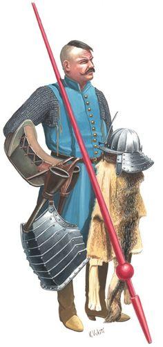 Croatian hussar, 1650