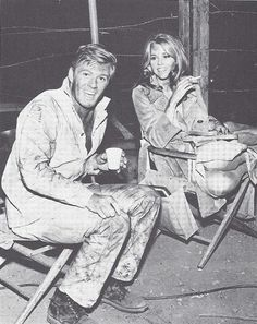 Redford and Fonda on the set of The Chase (1966)