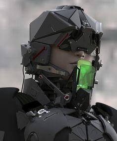 starsfive: 2075 Trooper by Maciej - Maciej Kuciara - CGHUB Futuristic Helmet, Futuristic Armour, Cyberpunk Character, Cyberpunk Art, Arte Robot, Mekka, Sci Fi Armor, Future Soldier, Cyborgs